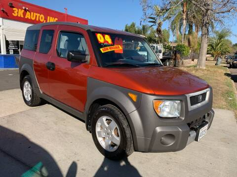 2004 Honda Element for sale at 3K Auto in Escondido CA