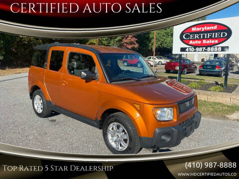 2006 Honda Element for sale at CERTIFIED AUTO SALES in Severn MD