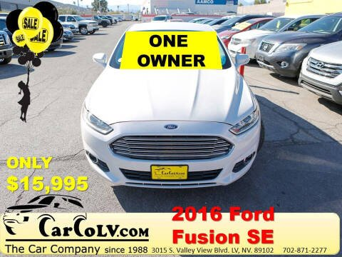 2016 Ford Fusion for sale at The Car Company in Las Vegas NV