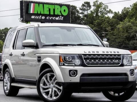 2016 Land Rover LR4 for sale at Metro Auto Credit in Smyrna GA