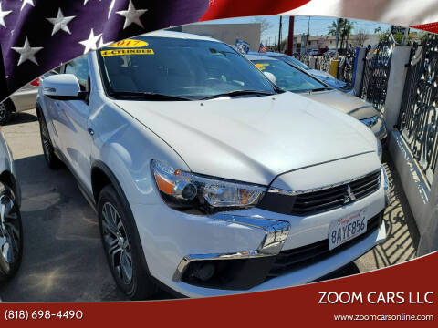 2017 Mitsubishi Outlander Sport for sale at ZOOM CARS LLC in Sylmar CA