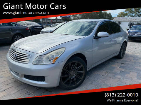 2008 Infiniti G35 for sale at Giant Motor Cars in Tampa FL