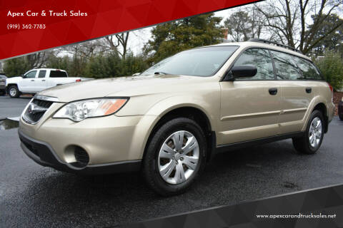 2009 Subaru Outback for sale at Apex Car & Truck Sales in Apex NC