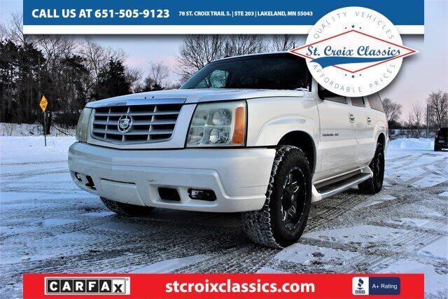 2003 Cadillac Escalade ESV for sale at St. Croix Classics in Lakeland MN