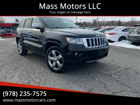 2012 Jeep Grand Cherokee for sale at Mass Motors LLC in Worcester MA