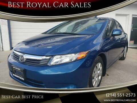 2012 Honda Civic for sale at Best Royal Car Sales in Dallas TX