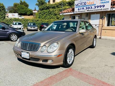 2003 Mercedes-Benz E-Class for sale at MotorMax in Lemon Grove CA