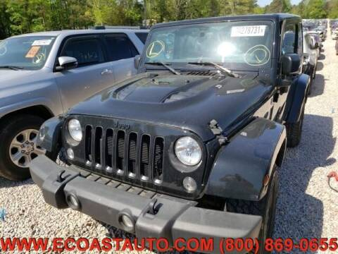 2015 Jeep Wrangler for sale at East Coast Auto Source Inc. in Bedford VA
