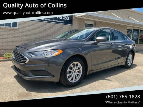 2017 Ford Fusion for sale at Quality Auto of Collins in Collins MS