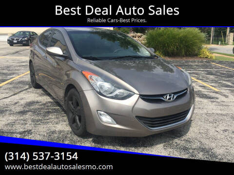 2012 Hyundai Elantra for sale at Best Deal Auto Sales in Saint Charles MO