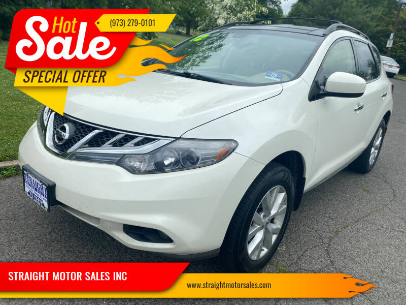 2012 Nissan Murano for sale at STRAIGHT MOTOR SALES INC in Paterson NJ