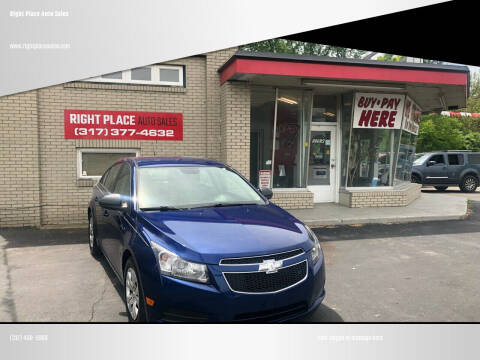 2013 Chevrolet Cruze for sale at Right Place Auto Sales in Indianapolis IN