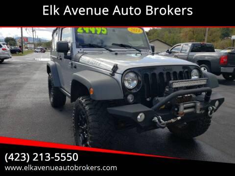 2015 Jeep Wrangler for sale at Elk Avenue Auto Brokers in Elizabethton TN