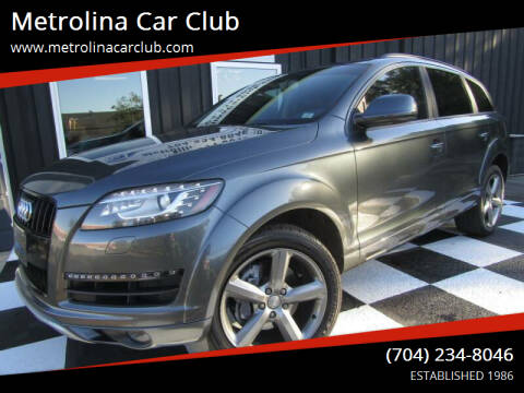 2015 Audi Q7 for sale at Metrolina Car Club in Matthews NC