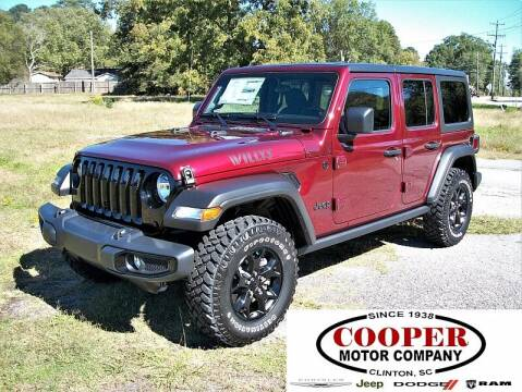 2021 Jeep Wrangler Unlimited for sale at Cooper Motor Company in Clinton SC
