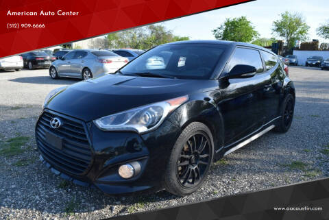 2013 Hyundai Veloster for sale at American Auto Center in Austin TX