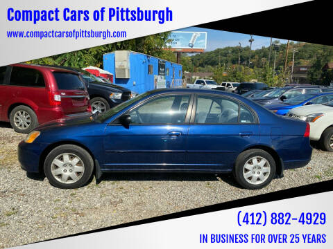 2001 Honda Civic for sale at Compact Cars of Pittsburgh in Pittsburgh PA