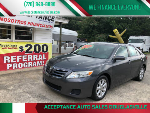 2011 Toyota Camry for sale at Acceptance Auto Sales Douglasville in Douglasville GA