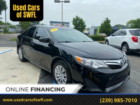 2013 Toyota Camry for sale at Used Cars of SWFL in Fort Myers FL