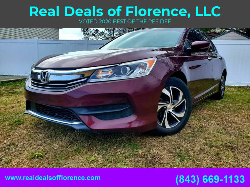 2017 Honda Accord for sale at Real Deals of Florence, LLC in Effingham SC
