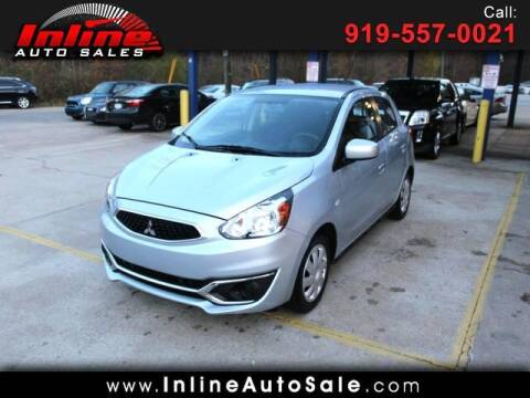 2018 Mitsubishi Mirage for sale at Inline Auto Sales in Fuquay Varina NC