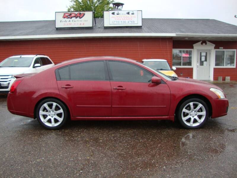 2007 Nissan Maxima for sale at G and G AUTO SALES in Merrill WI