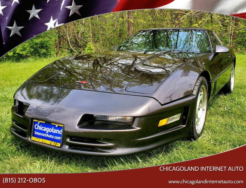 1990 Chevrolet Corvette for sale at Chicagoland Internet Auto - 410 N Vine St New Lenox IL, 60451 in New Lenox IL