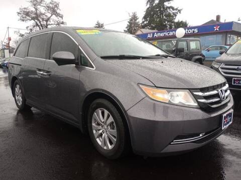 2015 Honda Odyssey for sale at All American Motors in Tacoma WA