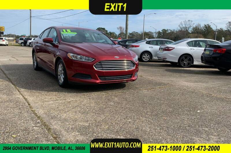 2015 Ford Fusion for sale at Exit 1 Auto in Mobile AL