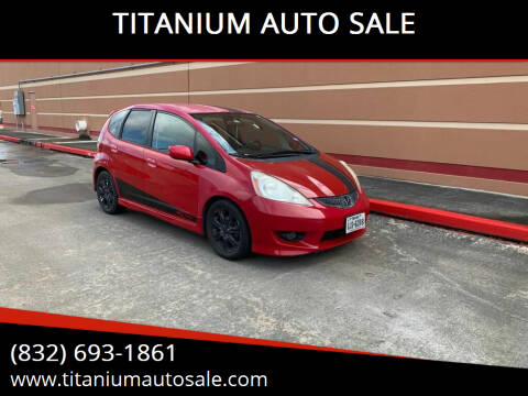 2009 Honda Fit for sale at TITANIUM AUTO SALE in Houston TX