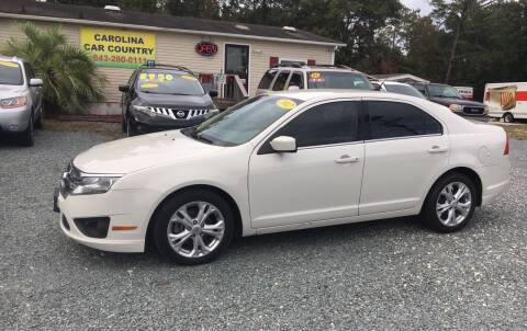 2012 Ford Fusion for sale at Carolina Car Country in Little River SC