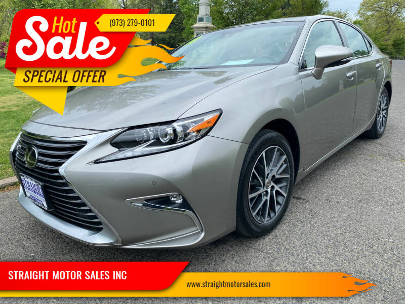 2018 Lexus ES 350 for sale at STRAIGHT MOTOR SALES INC in Paterson NJ