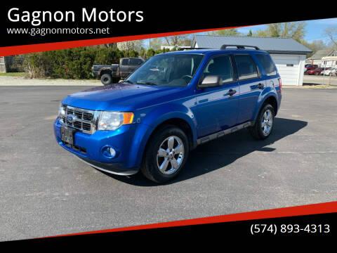 2011 Ford Escape for sale at Gagnon  Motors - Gagnon Motors in Akron IN