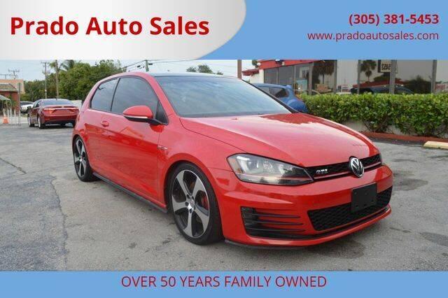 2015 Volkswagen Golf GTI for sale at Prado Auto Sales in Miami FL