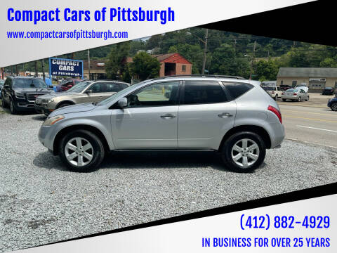 2007 Nissan Murano for sale at Compact Cars of Pittsburgh in Pittsburgh PA