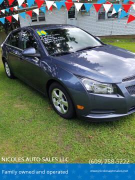 2014 Chevrolet Cruze for sale at NICOLES AUTO SALES LLC in Cream Ridge NJ