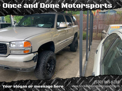 2005 GMC Yukon for sale at Once and Done Motorsports in Chico CA