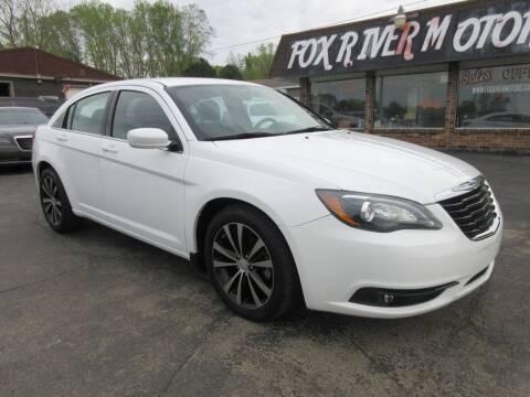 2013 Chrysler 200 for sale at Fox River Motors, Inc in Green Bay WI