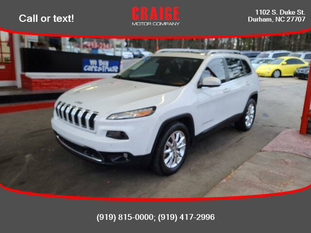 2014 Jeep Cherokee for sale at CRAIGE MOTOR CO in Durham NC