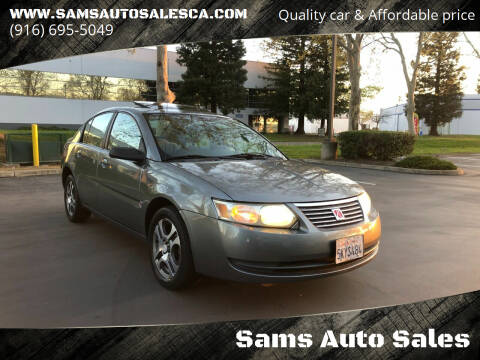 2005 Saturn Ion for sale at Sams Auto Sales in North Highlands CA