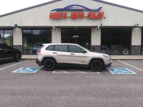 2015 Jeep Cherokee for sale at DOUG'S AUTO SALES INC in Pleasant View TN