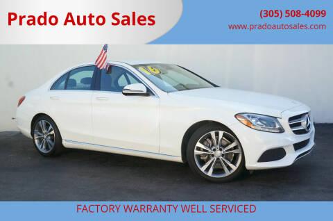 2016 Mercedes-Benz C-Class for sale at Prado Auto Sales in Miami FL
