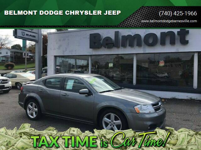 2012 Dodge Avenger for sale at BELMONT DODGE CHRYSLER JEEP in Barnesville OH