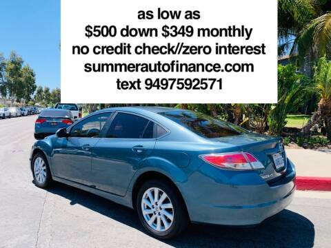 2012 Mazda MAZDA6 for sale at SUMMER AUTO FINANCE in Costa Mesa CA