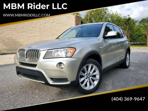 2013 BMW X3 for sale at MBM Rider LLC in Alpharetta GA