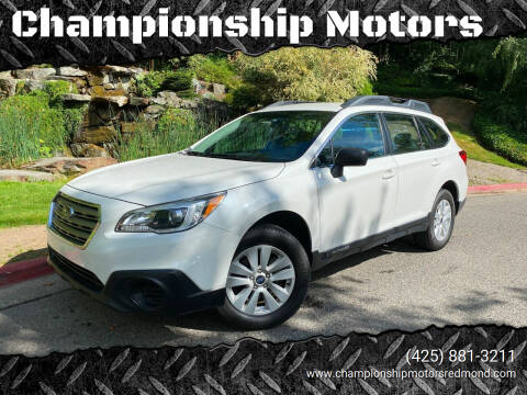 2017 Subaru Outback for sale at Championship Motors in Redmond WA