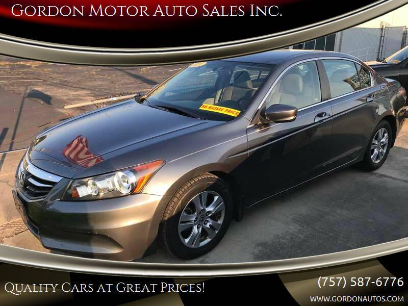 2011 Honda Accord for sale at Gordon Motor Auto Sales Inc. in Norfolk VA
