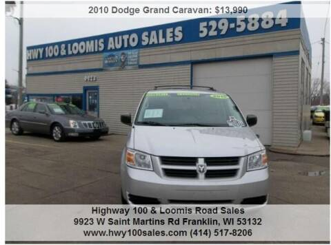 2010 Dodge Grand Caravan for sale at Highway 100 & Loomis Road Sales in Franklin WI