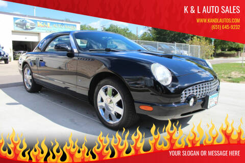 2003 Ford Thunderbird for sale at K & L Auto Sales in Saint Paul MN