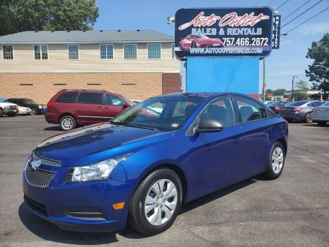 2013 Chevrolet Cruze for sale at Auto Outlet Sales and Rentals in Norfolk VA